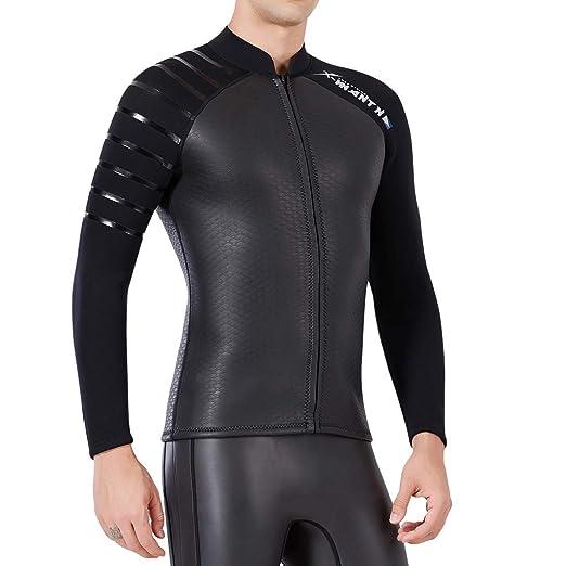 IPOTCH Traje de Buceo para Hombre de Manga Larga Chaqueta de Natación Surf Remo Deportes Acuáticos
