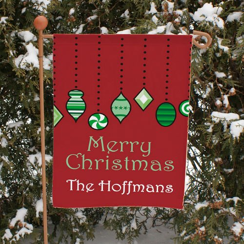 "Cheap GiftsForYouNow Holiday Ornaments Double Sided Personalized Garden Flag, 12 1/2"" w x 18"" h"