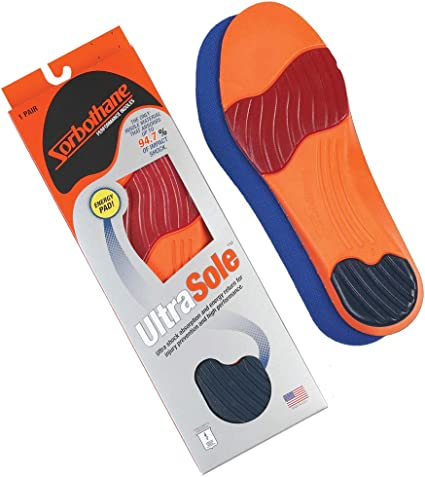 Sorbothane Ultra Graphite Arch Insole,Blue,Men/'s 14-15 M New Free Shipping
