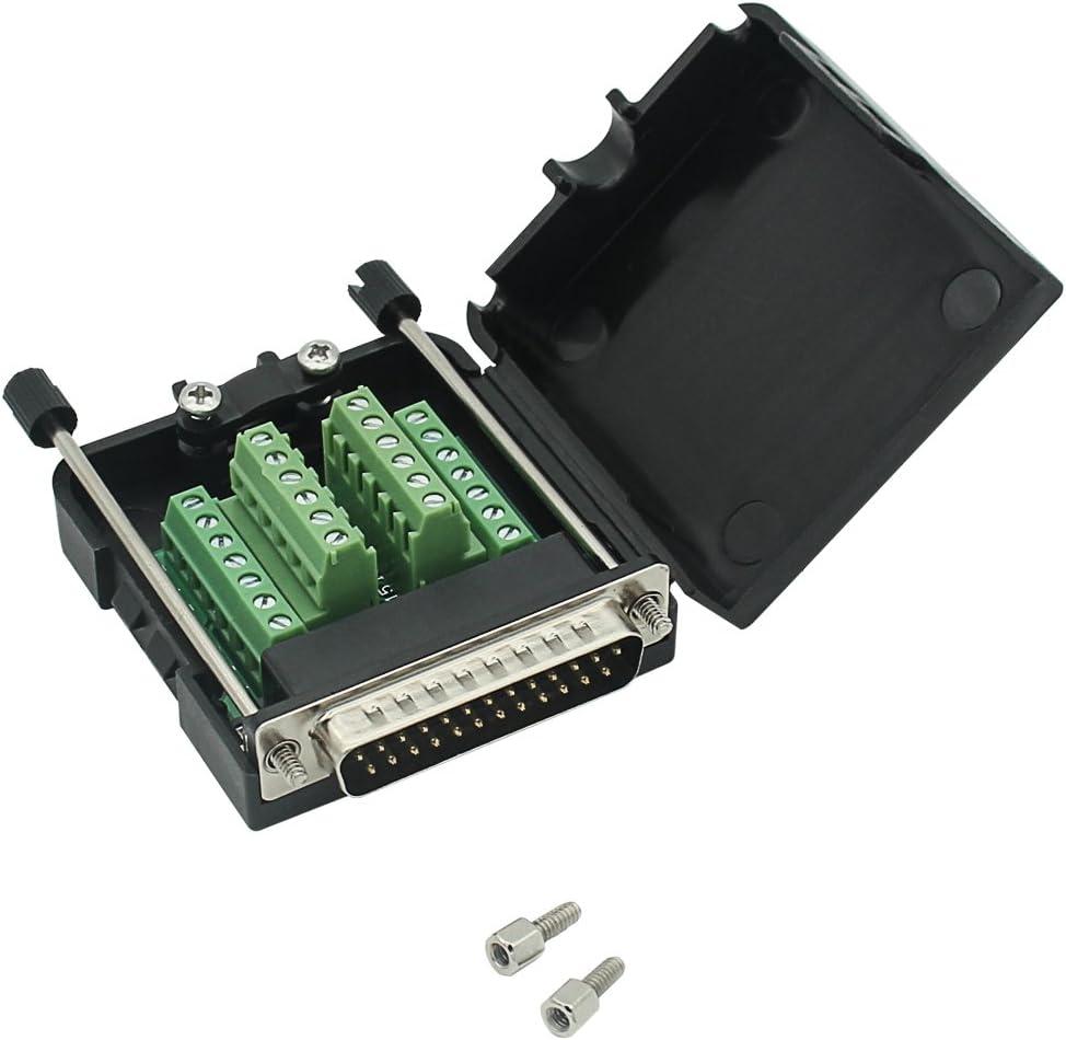 2 x 25-Way D Sub Connector Male Plug Solder Lug