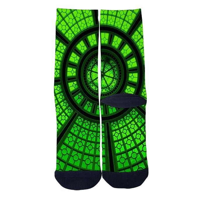 Winfred Green Trajectory Socks Mens Womens 3D Print Custom Crew