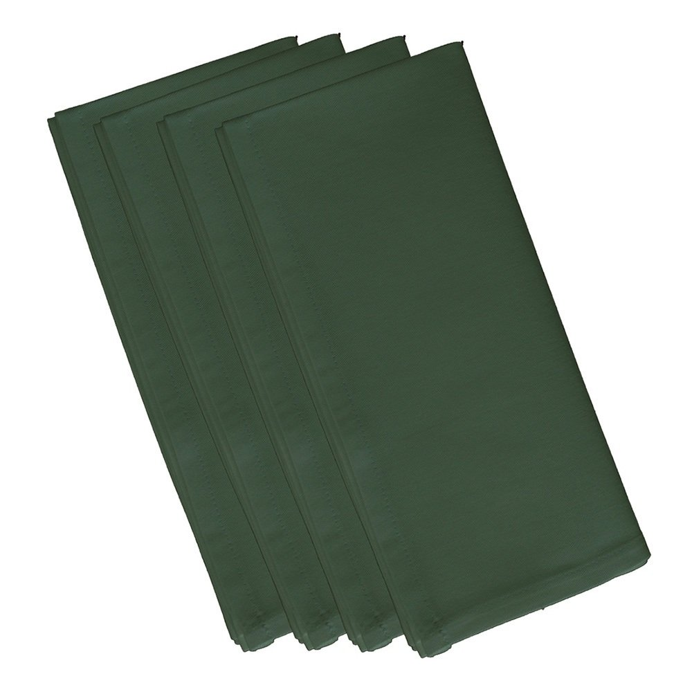 4 Piece Herb Green Dinner Napkin, (Set Of 4), Solid Pattern, Classic And Contemporary Style, Square Shape, Good Qualitie, Everyday Or Special Occasions, Decorative, Cotton Material, Forest Green