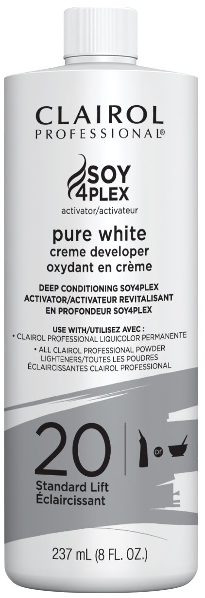 Clairol Professional Soy4plex Pure White Creme Hair Color Developer, 20 Volume