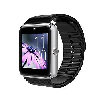 Montre connectée, Montre connectée Bluetooth avec Emplacement pour Appareil Photo, Carte TF, pour