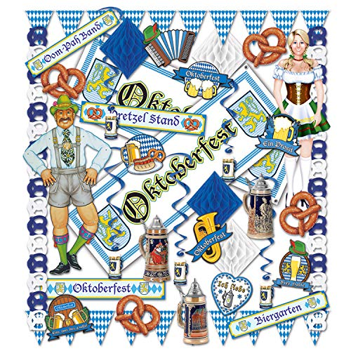 Beistle 55607 37-Piece Oktoberfest Decorating Kit -