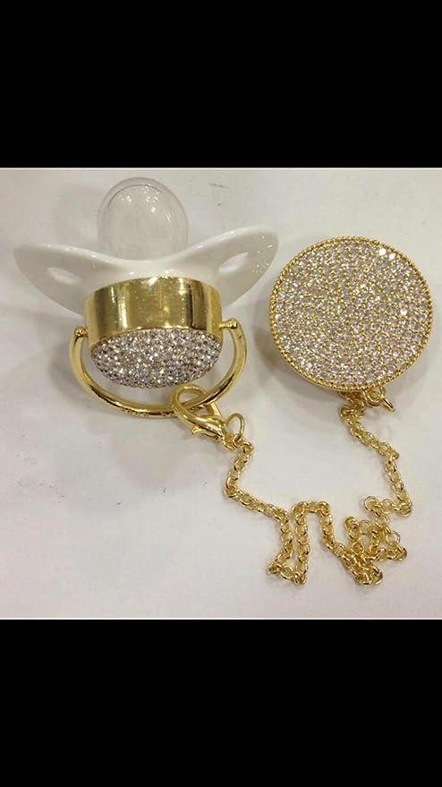 Baby Cadena para chupete Chupete Clip Luxus Premium ...