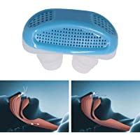 BigBig Style 2 in 1 Mini Anti Schnarchen Luftreiniger Gerät Nasenklammer Schlafmittel für Einfaches Atmen Nasale Verstopfung Schnarchen