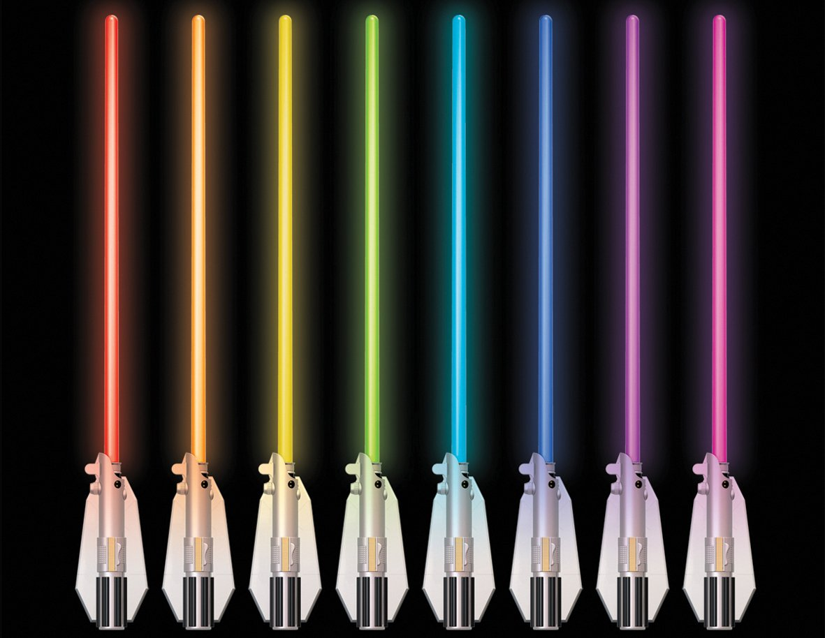 Uncle Milton Star Wars Science Deluxe 8 Colour Lightsaber Room Light:  Amazon.co.uk: Toys U0026 Games