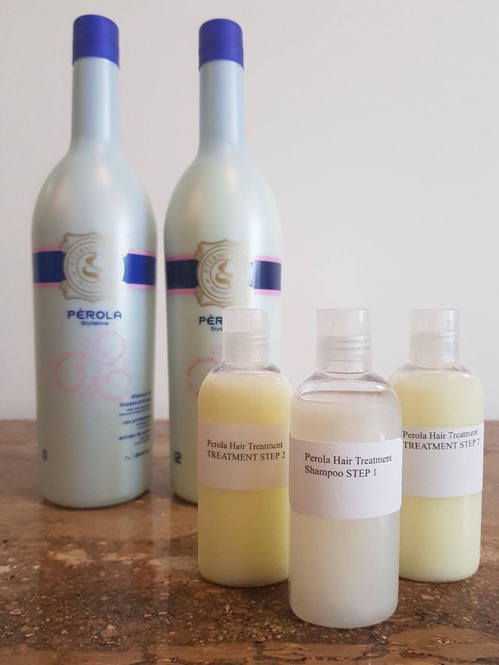 TRATTAMENTO BRASILIANO CON FON DI CHERATINA PEROLA MULTI TAGLIE (3 X 100ML Shampoo e Keratin) EternityLiss