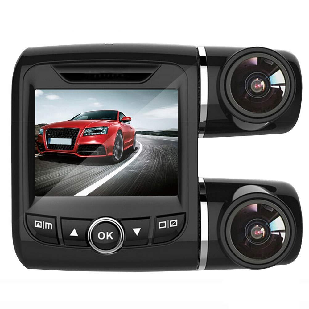 1080P doble HD coche Dash cámara 2,0 pulgadas HD panel pantalla 170 ° gran angular cámara DVR de tablero: Amazon.es: Coche y moto