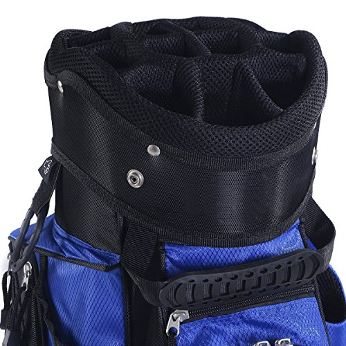 Tangkula 2016 Golf Carry Bag 14 Way Divider Lightweight w/Carry Belt Blk&Blue by TANGKULA (Image #5)