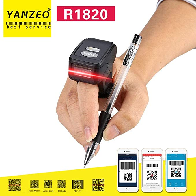 Amazon com : Yanzeo R1820 2D Ring Scanner Mini Scanner Wearable Ring