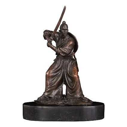 amazon com 9 handmade japanese samurai bronze statues and