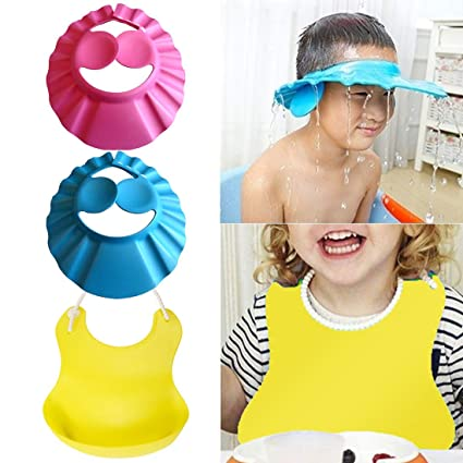 Adjustable Baby Kids EVA Shield Shampoo Bath Shower Hat Cap Wash Hair Waterproof