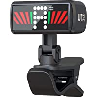 KLIQ Ultra-TinyTuner - Micro-Clip-On Tuner - for use with Guitar, Ukulele, Violin, Bass and all other stringed…