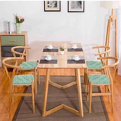 Cojín cuadrado para silla de comedor, color menta, diseño ...