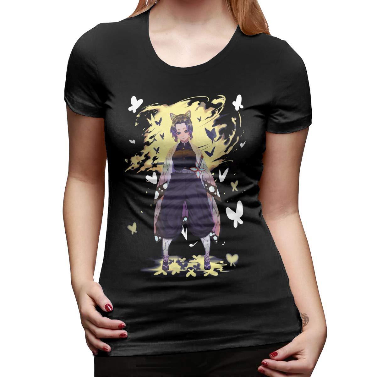 Ddhhyy Anime Demon Slayer Kimetsu No Yaiba Kochou Shinobu S Short Sleeve Top T Shirt