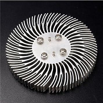 Hitommy Fregadero redondo en espiral de aluminio para lámpara LED de 10 W de alta potencia