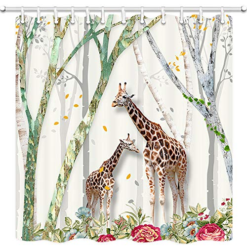 Giraffe Shower Curtain Safari