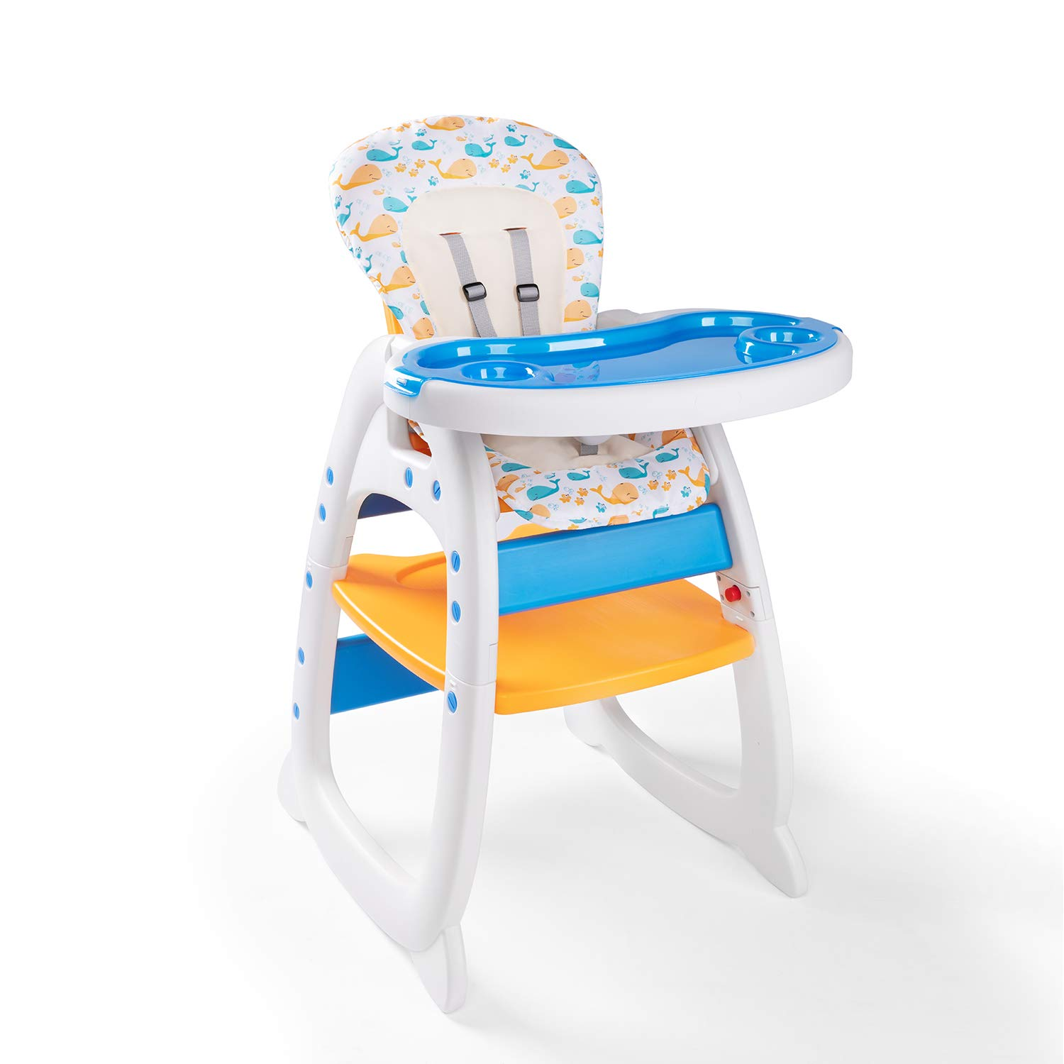 Bable Multifunctional Baby High Chair, Toddler Chair, Learning & Playing Table with Removable Tray and Backrest by Bable