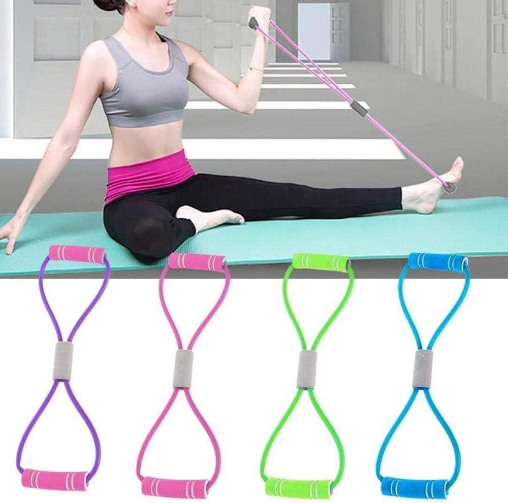 8 Förmige Rallye Yoga Gel Fitness Widerstand 8 Wort Brust Dilatator Seil A5Z7