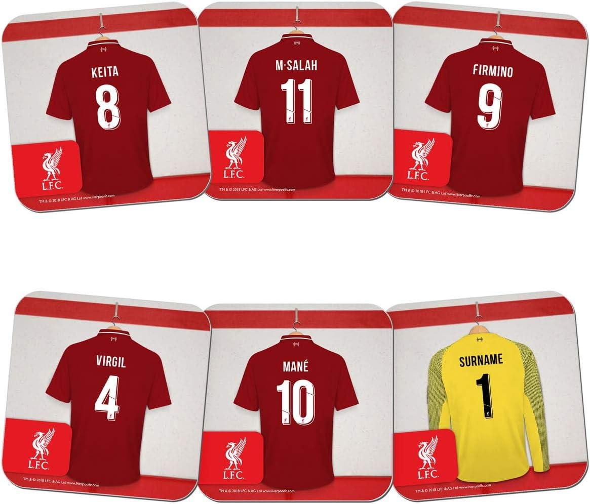 Compra Liverpool F.C. - Juego de 6 Posavasos Personalizables ...