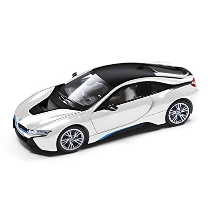BMW I8 White Black Model Car Ready Made I