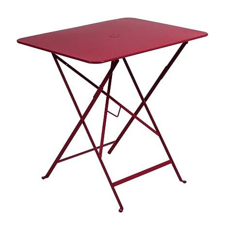 Fermob Mobili Da Giardino.Fermob Tavolo Bistro Rosso L 77 Cm Amazon It Giardino E