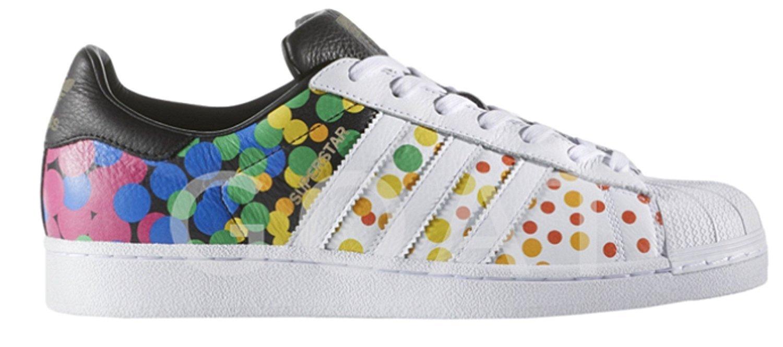 adidas Originals Men's Superstar Shoes B077BVHZ73 12.5 D(M) US|Lgbtq Pride White