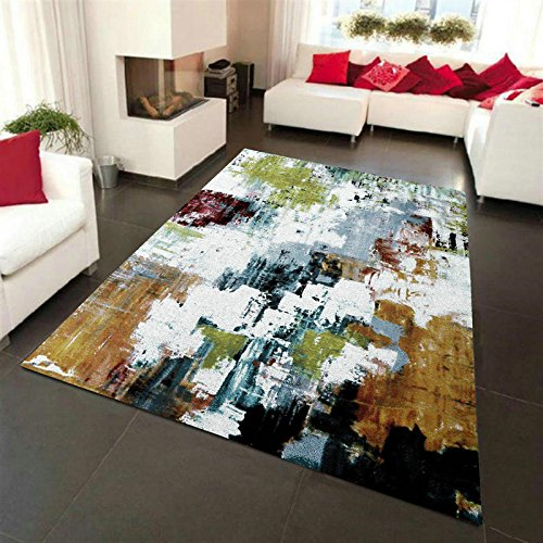 QYSZYG リビングルームベッドルームカーペットコーヒーテーブルカーペット抽象カーペット じゅうたん (サイズ さいず : 1.2*1.7m) B07RGH5CRD  1.2*1.7m