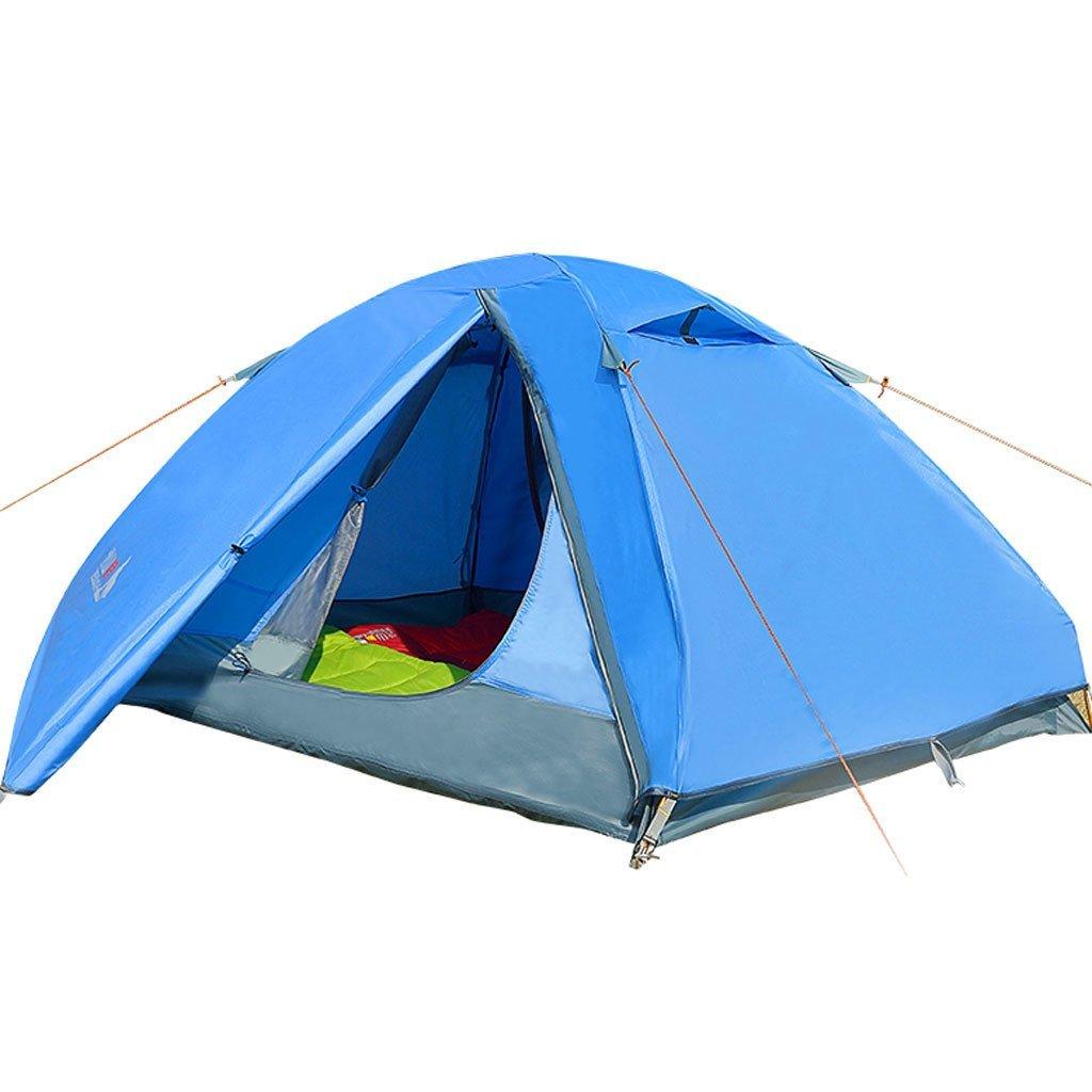 Camping Zelt im Freien Doppelstock Wind gegen Sturmzelt Zelt Aluminiumpfosten Mongolei Camping