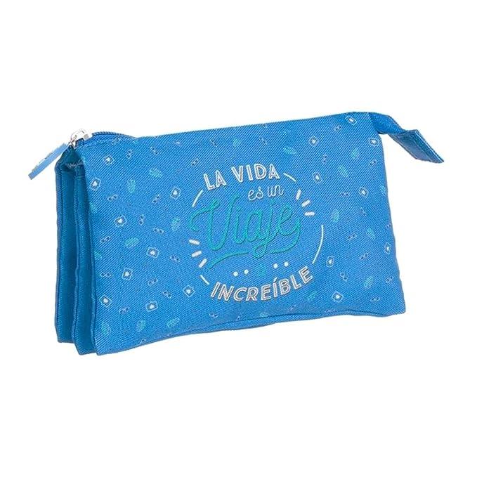 DCASA Estuche Tres Bolsillos Frases La Vida es un Viaje ...