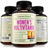 Vimerson Health Women's Multivitamins, All Natural, Non-Gmo, Gluten Free, Dairy Free. With Biotin + Foliac Acid + Vitamins A B C D E + Calcium + Zinc + Lutein + Magnesium + Manganese & More
