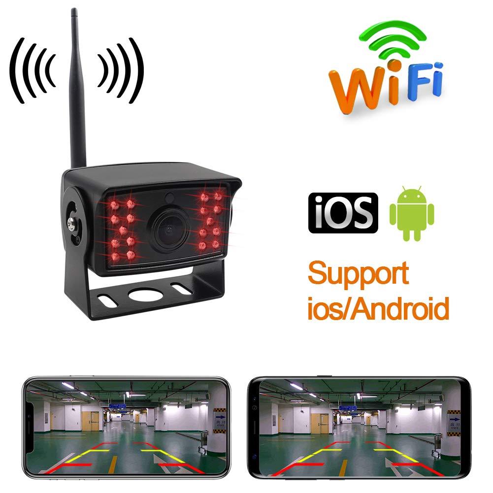 XuBa - Cámara de visión trasera para coche, 12 V CC, 24 V, Wi-Fi, para camión y caravana.