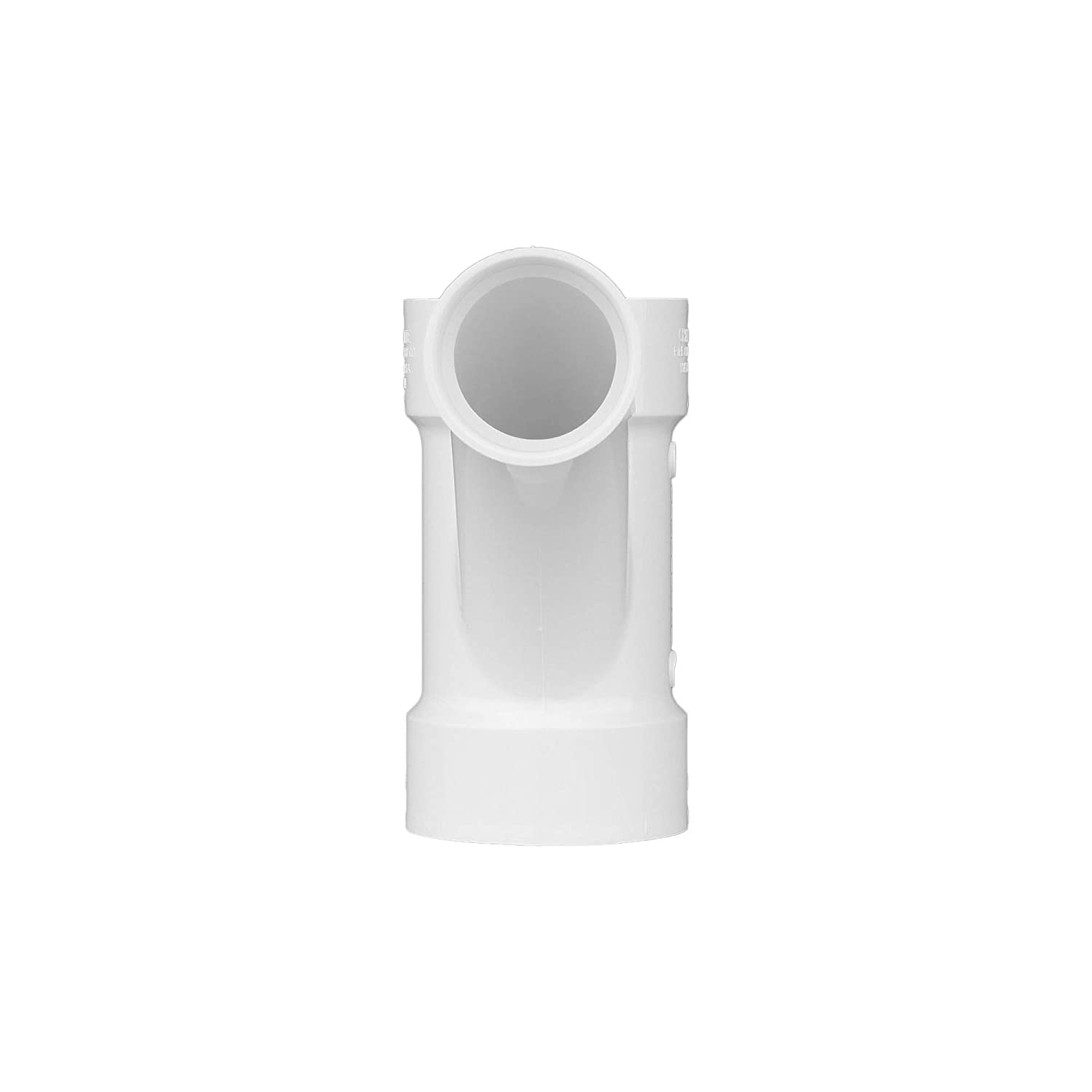 Durable and Easy to Install for Home or Industrial Use Drain, Waste and Vent Single Unit and 1//8 Bend 1 Piece Schedule 40 PVC DWV Charlotte Pipe 3 X 3 X 2 Comb Wye Pipe Fitting