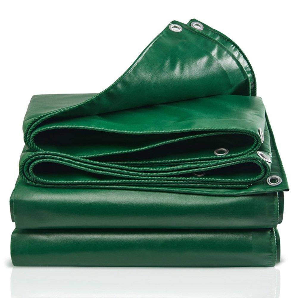 ZHANWEI ターポリンタープ Tarp テント タープ 厚い防水布オーニング 雨篷 厚い 日焼け止め オーニング 耐寒性 工業ポリエステル糸 プラスチックコーティング リノリウム トラック 屋外 (色 : Green, サイズ さいず : 7.8×5.8m) 7.8×5.8m Green B07FZ2NJKV