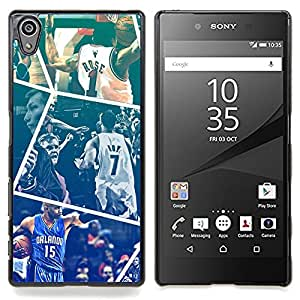 - Basketball - - Cubierta del caso de impacto con el patr??n Art Designs FOR Sony Xperia Z5 5.2 Inch Smartphone Queen Pattern