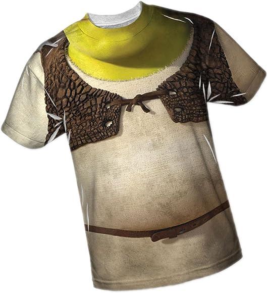 6eb68f77 Amazon.com: Costume -- Shrek All-Over Front/Back Print Sports Fabric ...