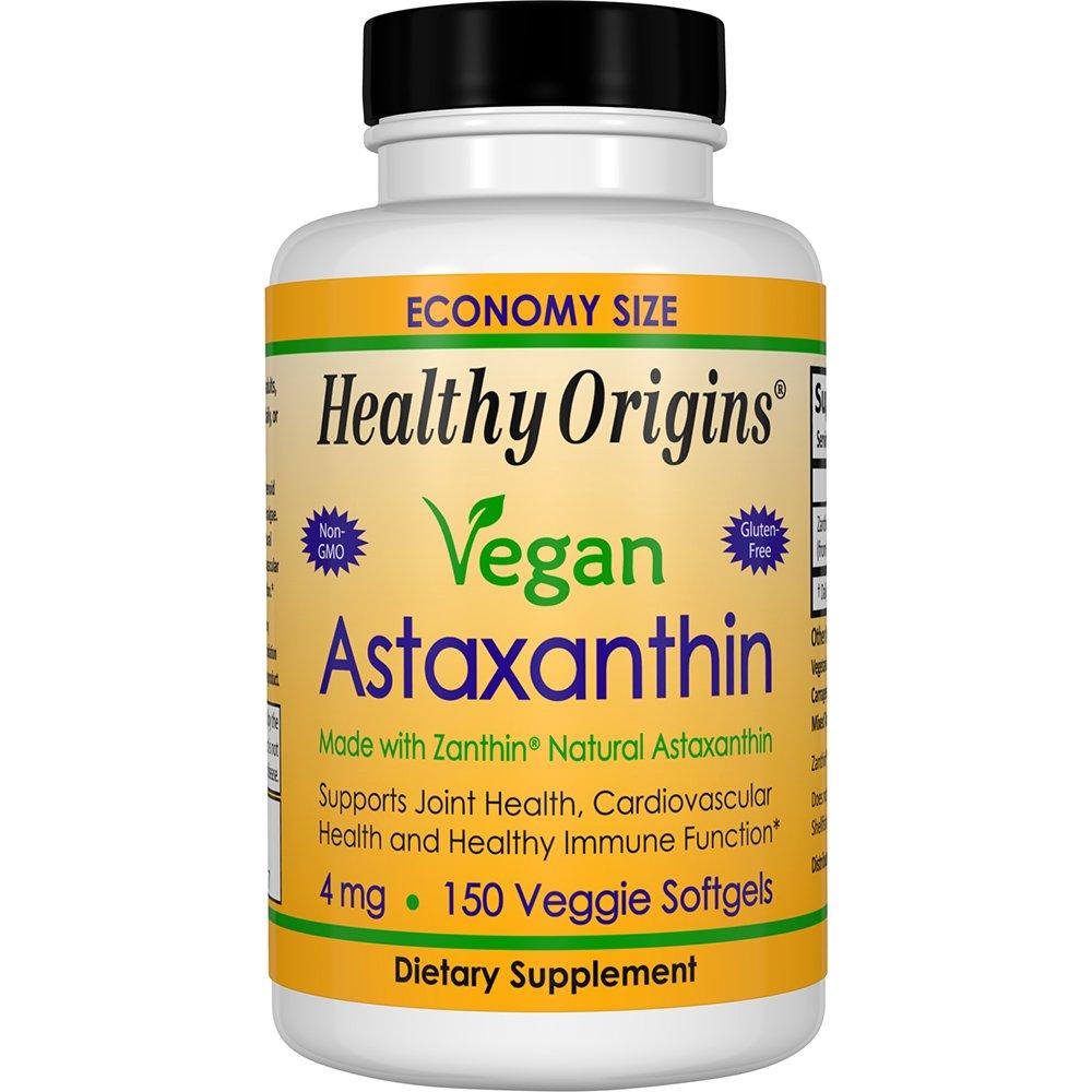 Healthy Origins Astaxanthin Supplement, 4 mg, 150 Count