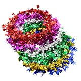 Buorsa 6 Colors Small Star Garland Wired Garland Party Decoration Festive Ornament, 7.5 Meters