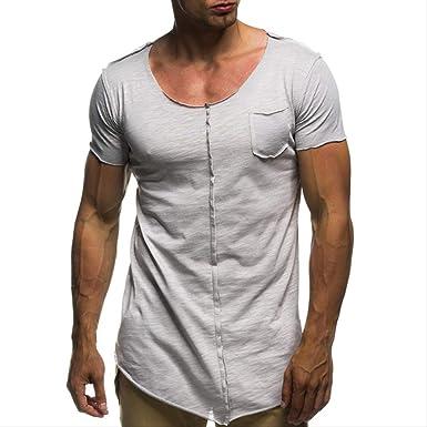 Hombres Camiseta Ocasional De La Camisa De Manga Corta L De ...