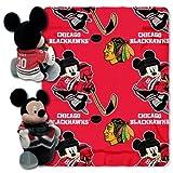 disney chicago bears - NHL Chicago Blackhawks Co-Branded Disney's Mickey Hugger and Fleece Throw Set