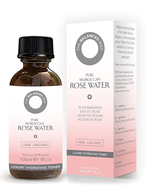 5 opinioni per Acqua di Rose del Marocco per il Viso e per la Pelle- Pura al 100%, Biologica,