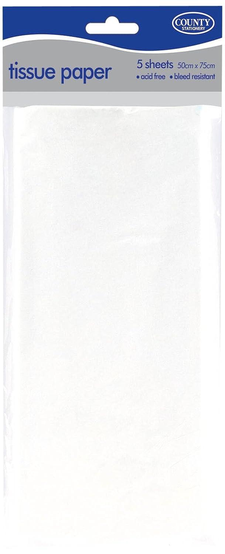 County C5 Seidenpapier, Weiß , 5 Blatt County Stationery CTY08050
