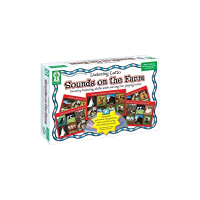 Listening Lotto Sounds on the Farm, Children's Auditory Matching Game, Fun Kid's Learning Game: Key Education Publishing: Toys & Games