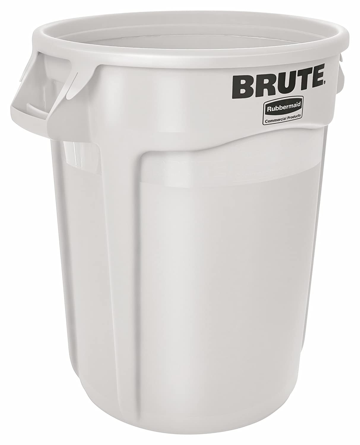 Rubbermaid FG263200WHT-001 Brute Container with Venting Channels, 121.1 L, White Newell Rubbermaid