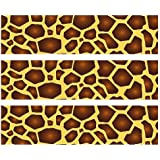Safari leopard print edible cake border for Animal print edible cake decoration