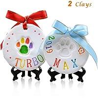 LOOBANI Pet Pawprint Keepsake Kit (2Packs)-DIY Clay Paw Print Memorial Impression Kits for Dog…
