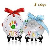Pet Pawprint Keepsake Kit (2Packs)-DIY Clay Paw
