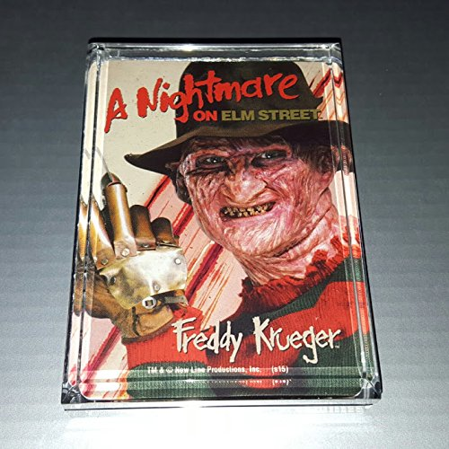 - A Nightmare On Elm Street Freddy Krueger Acrylic Executive Display Piece or Desk Top Paperweight